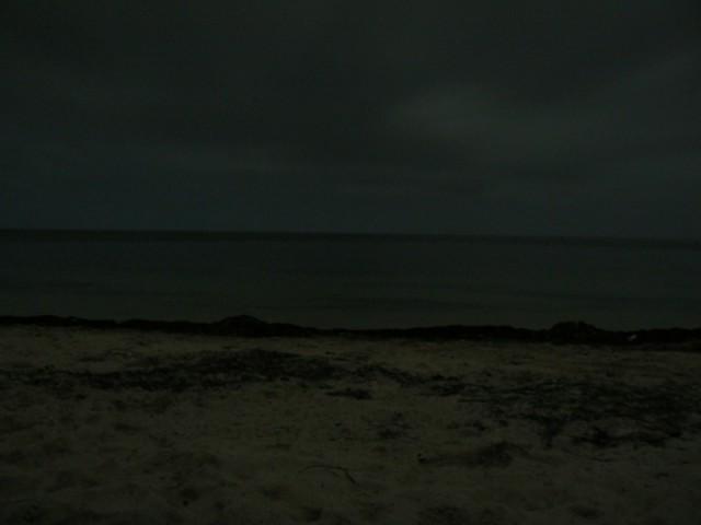 Ночное море.