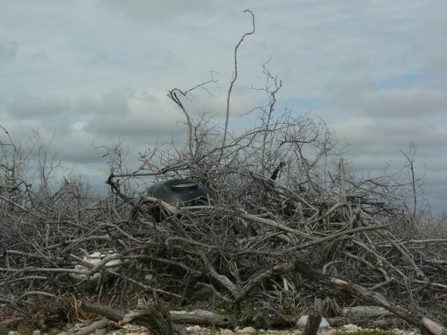 Останки из разрушенные дома.