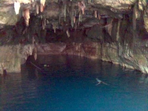 И очень многие рибы ест-потому что пещеры связани между собой и длина их никто не знает-можно и  тысячи километры.