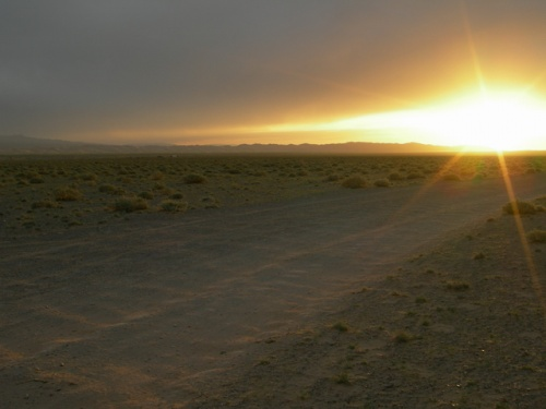 Закат. Пустыня Гоби.