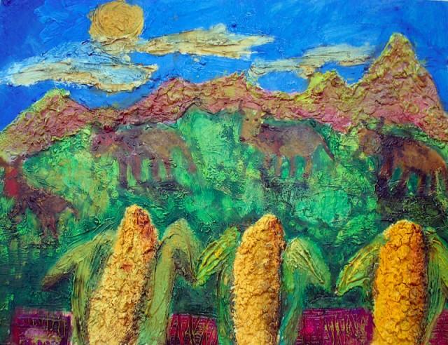 Тоже неизвестная картина. Замечательная кукуруза!