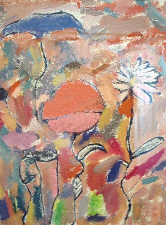 Семья цветов (гуашь), Черняев Коля, 5 лет