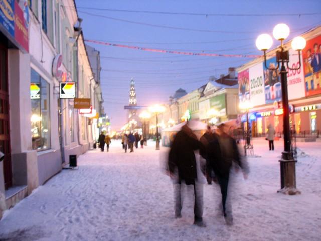 Вечерняя улица. Казань