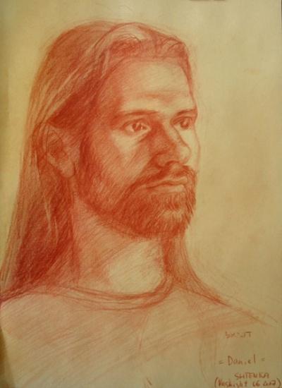 Портрет Даниэла. Этот рисунок я подарила Даниэлу