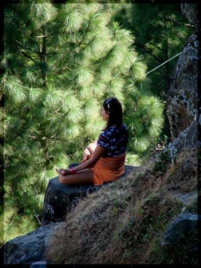 Медитация в горах... :)