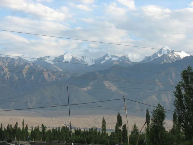 Вид из нашего окна в Лехе