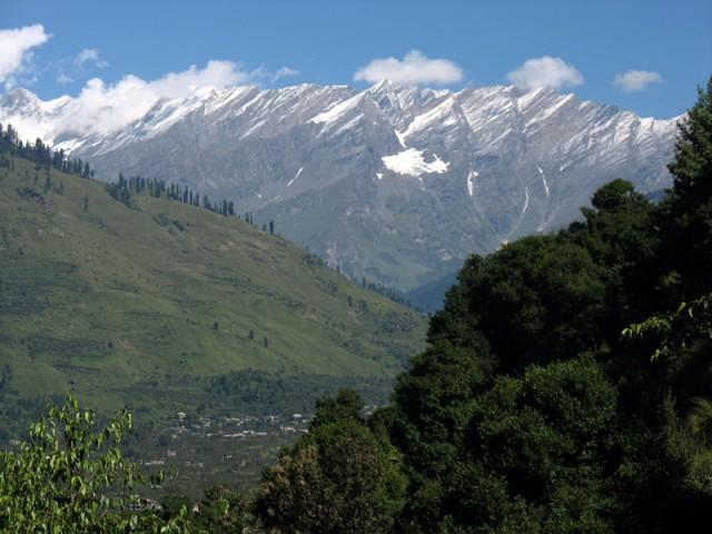 В горах выпал снег