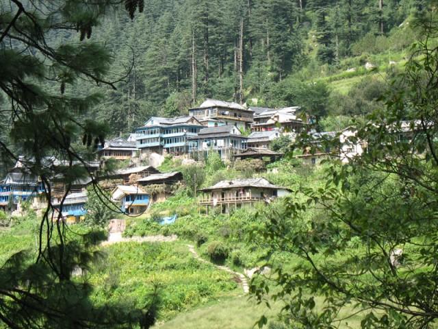 Деревня в Гималаях