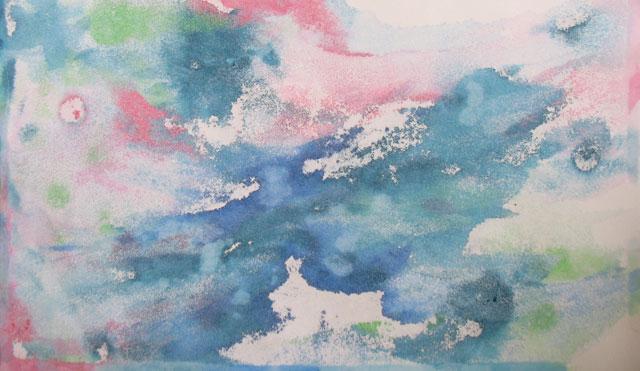 оборотная сторона предыдущего рисунка (просвечивает краска), тоже интересная