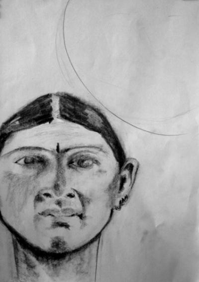 подготовительный набросок к портрету Гаятри