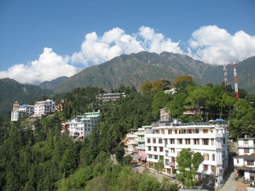Вид на Маклеод из Резиденции Далаи-ламы
