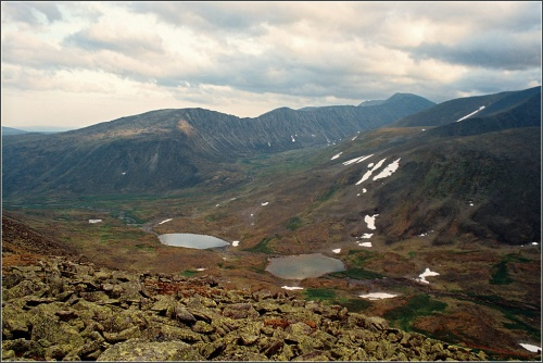 панорама верховьев реки Народы
