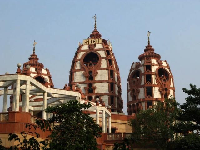 В храме ИСККОН в Дели