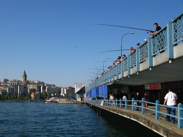 Галатский мост, Стамбул, Турция