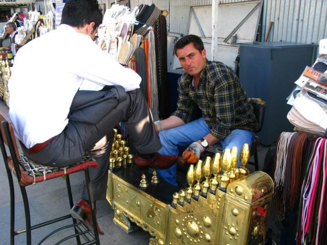 Чистильщик обуви, Стамбул, Турция