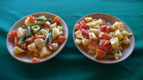 русский и американский салаты (фото Коtи)