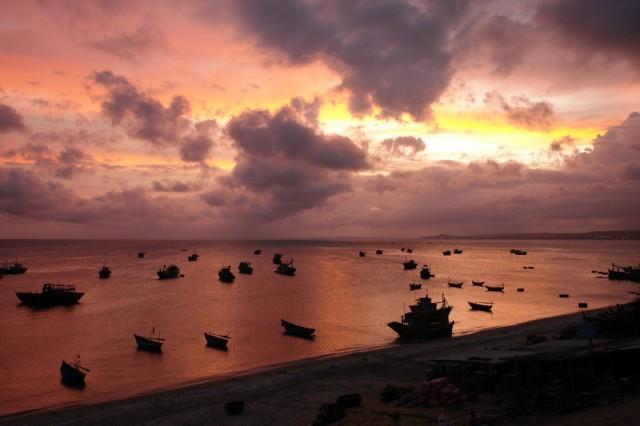 закат в Мунье