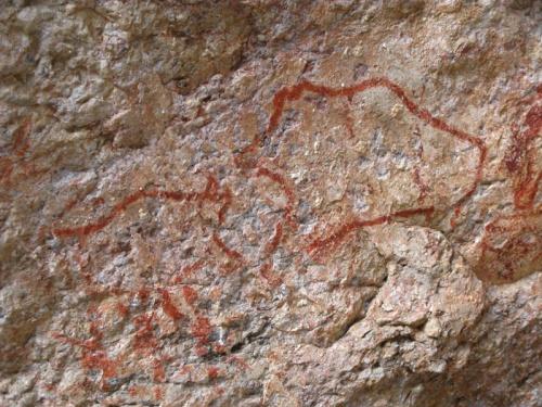 Наскальные рисунки в месте под названием Шакти