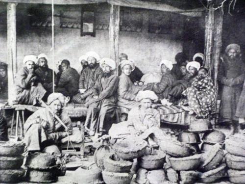 Старые фото базара в Ходжанде