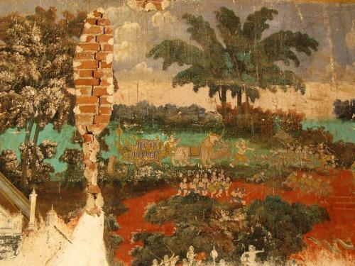 настенные росписи вокруг Силвер-пагоды