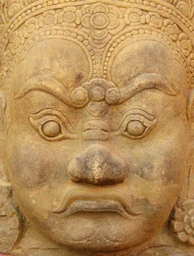 Голова демона из Ангкор-Вата