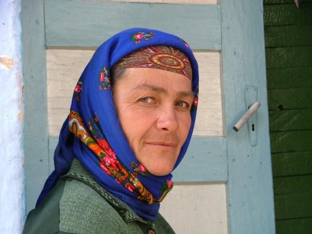 Женщина с зелеными глазами.
