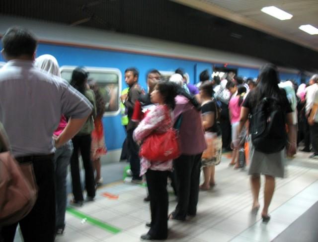 Пробка в метро. Куала-Лумпур