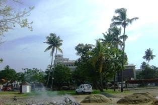 Место взрывов в честь Шивы