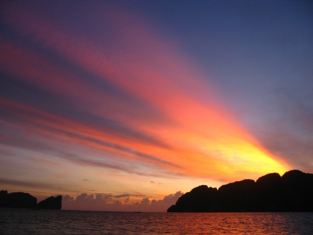 Закат над островом Пи Пи