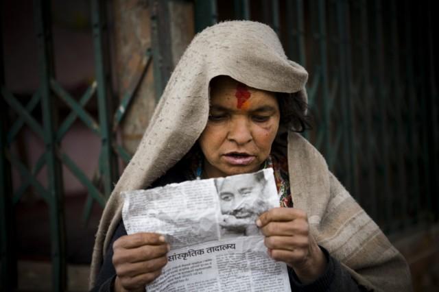 """Непал. Катманду. Из серии: """"Жизнь  города."""" """"Поиск  ответов."""" 2009 г."""