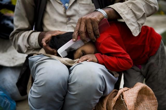 """Непал. Катманду. Из серии: """"Жизнь  города."""" """"Воспоминания из детства."""" 2009 г."""