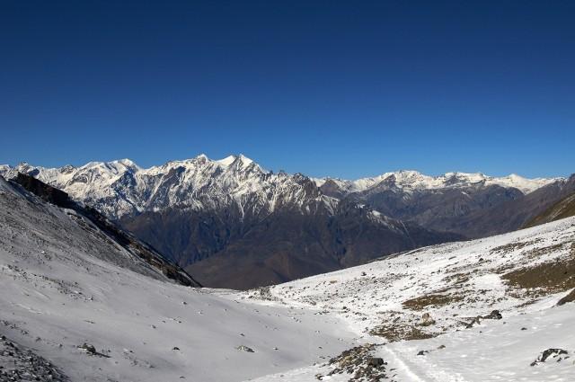 Вид с перевала на долину Кали-гандаки
