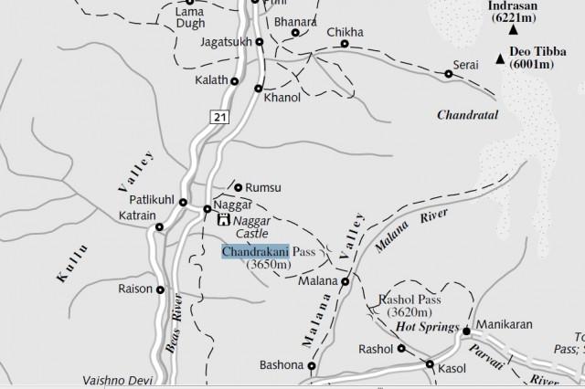 Карта позаимствована у Lonely Planet