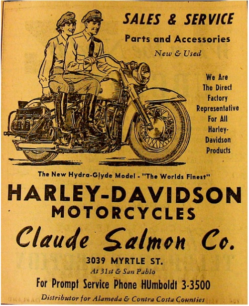 Harley-Davidson Motorcycles Vintage Advertisement from a 1948 (Брчасб)