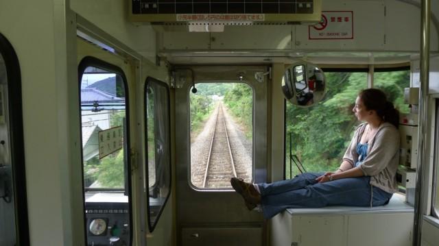 Сельский поезд в префектуре Токусима