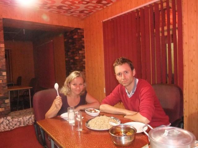 Первый ужин в Шринагаре