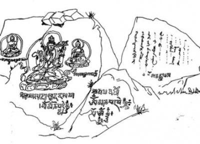 Первым это место исследовал и зарисовал Чокан Валиханов в 1856г.