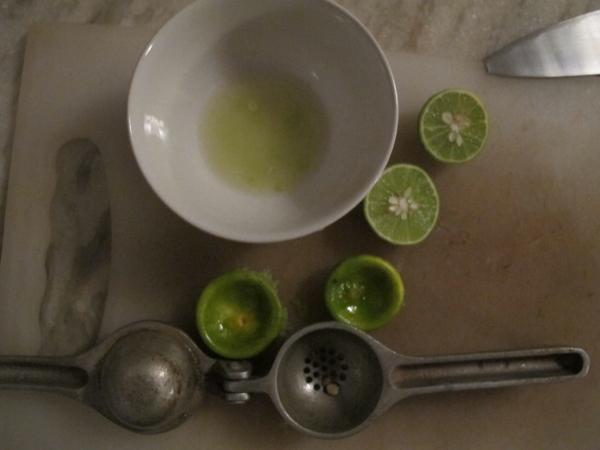 И сок лайма/лимона