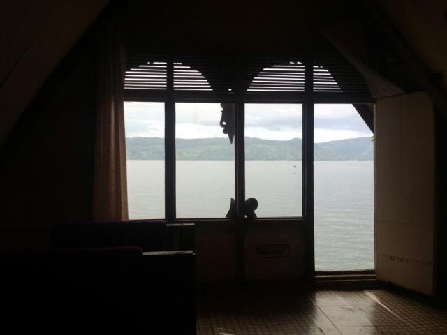 Вид на озеро со второго этажа