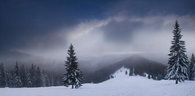 Игра ветра, света и снега