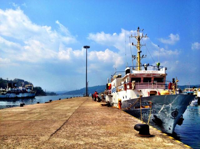 Порт-Блейр. Кораблик на Хавелок.