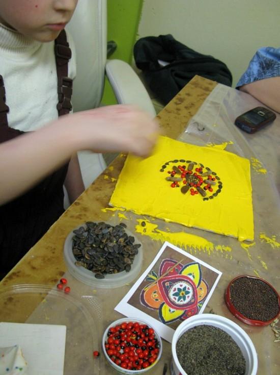 Выкладываем ранголи семенами