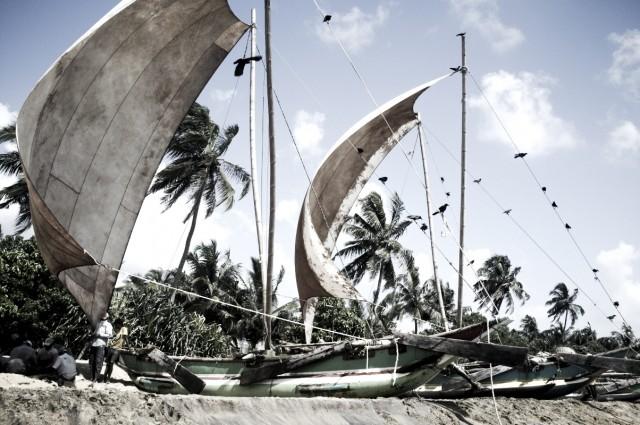 Парусные лодки в Негомбо