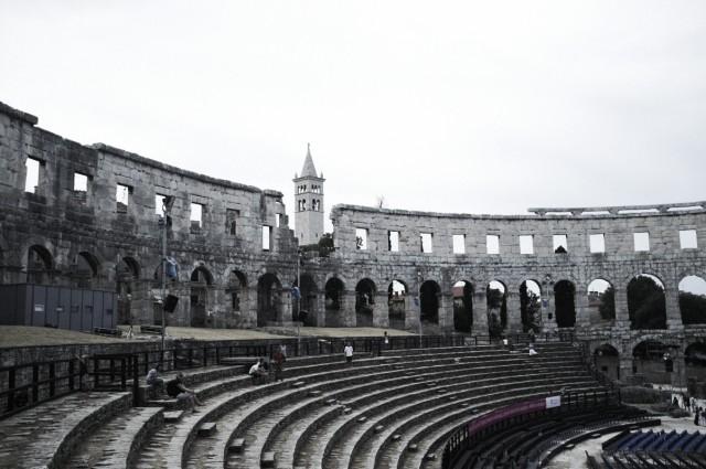 Амфитеатр в Пуле изнутри 1