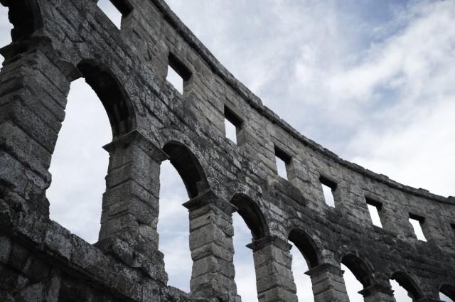 Амфитеатр в Пуле изнутри 2