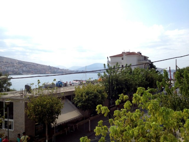 Вид с балкона на Ионическое море и остров Корфу