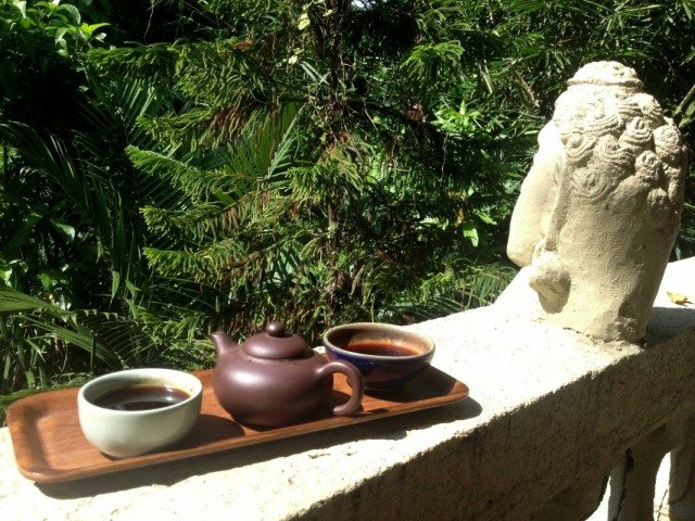 Чаевничаем на балконе