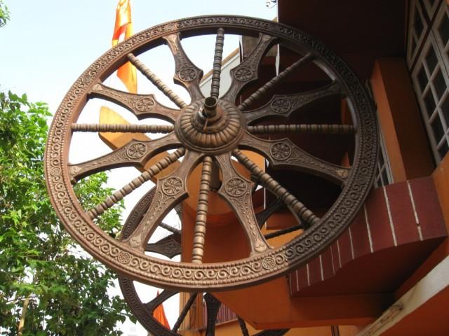 Колесо сансары в храме Марути в Панаджи
