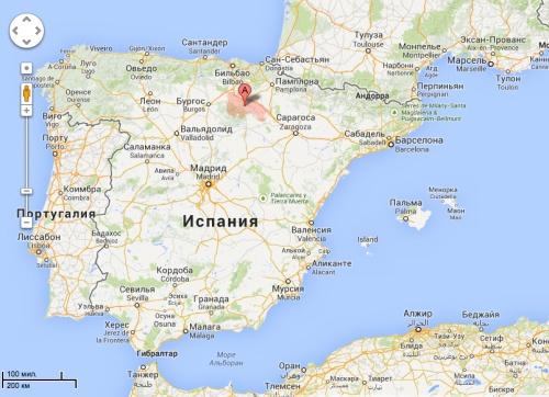 Риоха на карте