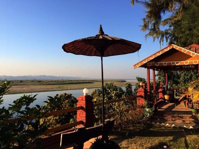 Вид на реку со стороны нового Багана